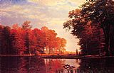Autumn Woods by Albert Bierstadt